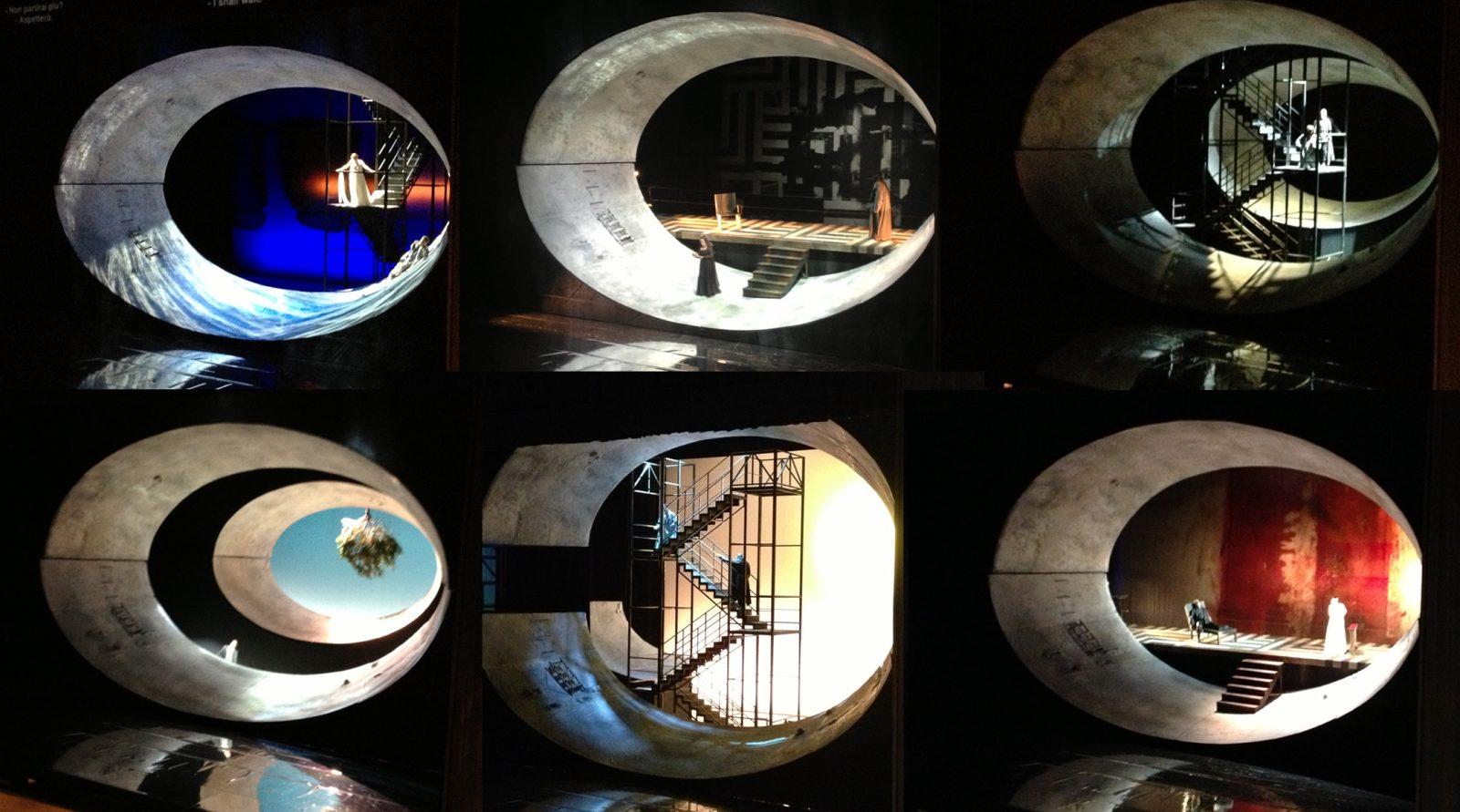 Le scenografie fotografate (aimè) dal mio iPhone